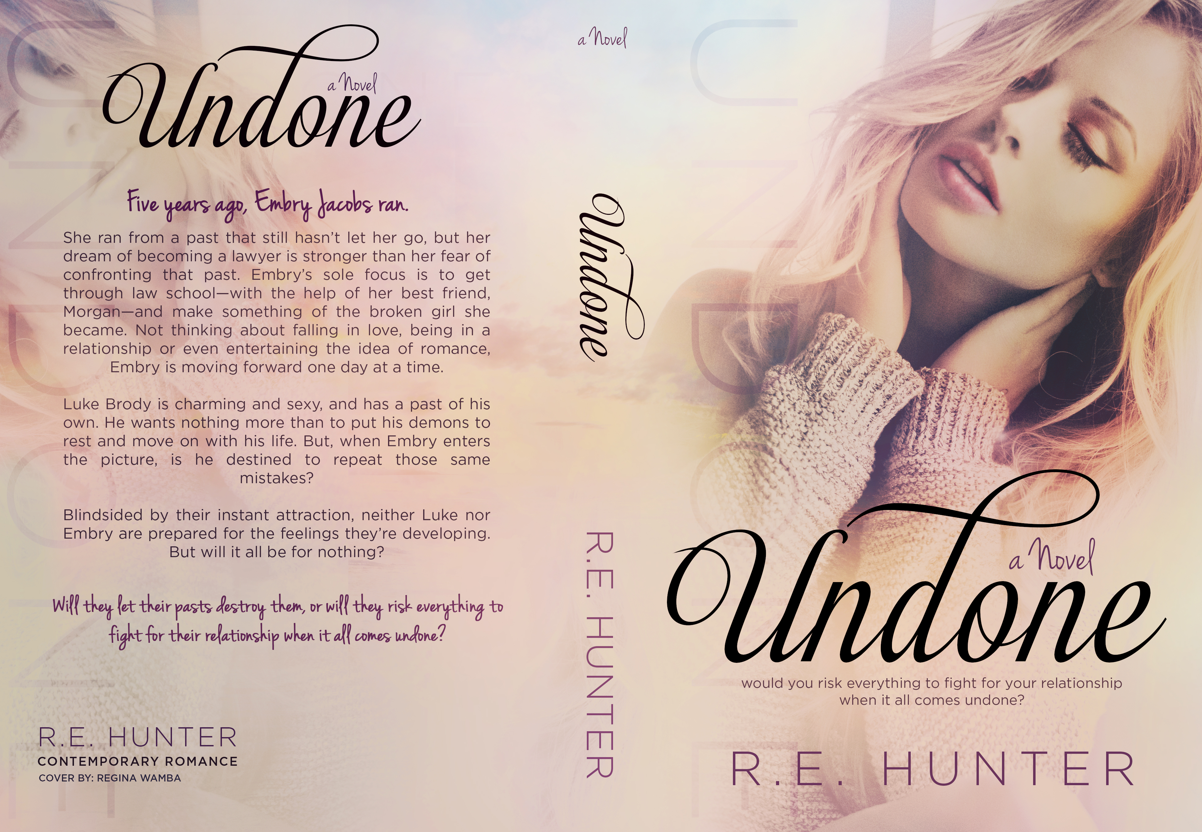 Cover Reveal & Giveaway: Undone by R.E. Hunter