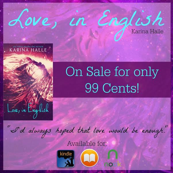 Love, in English sale
