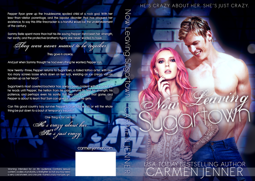 Cover Reveal, Excerpt & Giveaway – NOW LEAVING SUGARTOWN – Carmen Jenner