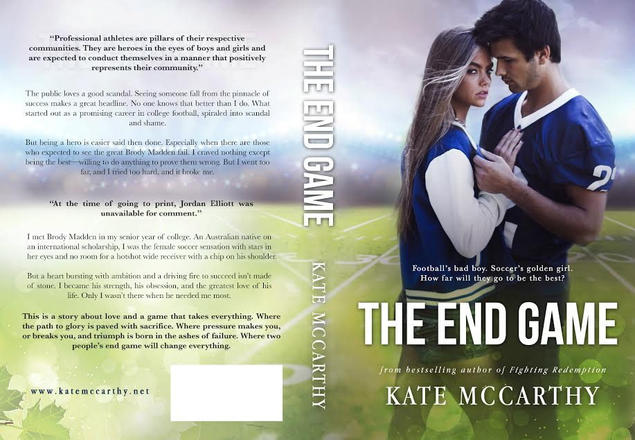 Cover Reveal – THE END GAME – Kate McCarthy