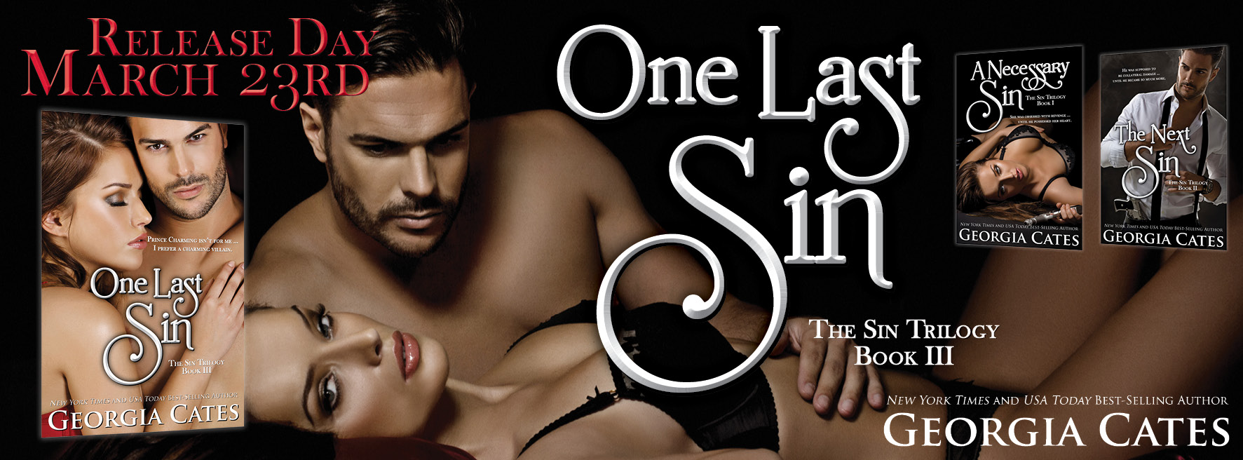 Release Day Blitz, Giveaway, Trailer – ONE LAST SIN by Georgia Cates